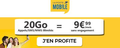 Forfait 20Go La Poste Mobile