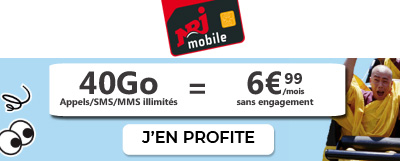 Forfait 40Go NRJ Mobile