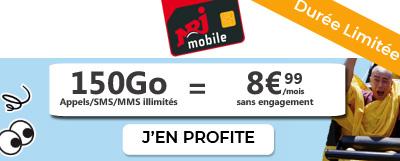forfait 150Go à 8,99 euros chez nrj