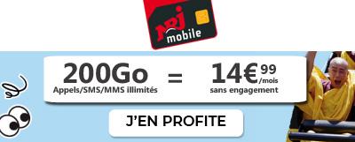 Forfait NRJ Mobile 200Go