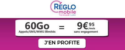 Forfait Reglo Mobile 60Go