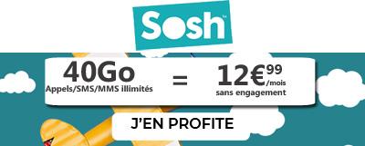 Forfait Sosh 40Go