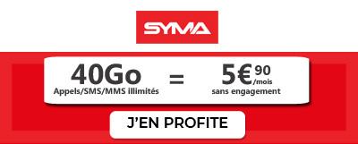 promo 40 go chez syma mobile
