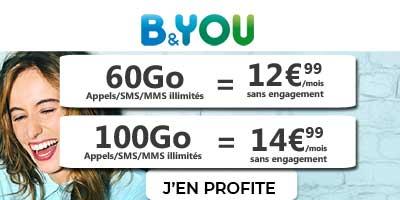 nouvelles promos B and you sur forfaits 60  et 100 go