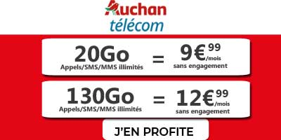 Forfaits Auchan Telecom