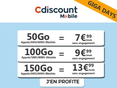 Gigas Days Cdiscount mobile