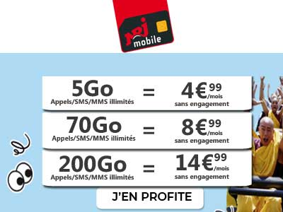 Promo forfaits NRJ Mobile