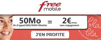forfait free deux euros