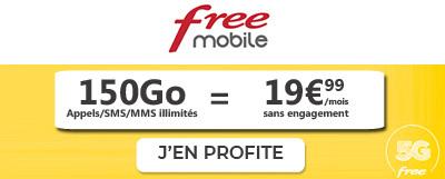 Forfait Free Mobile 150Go