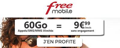 forfait illimité free mobile