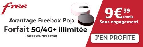Forfait Free 5G illimitée avec Freebox POP