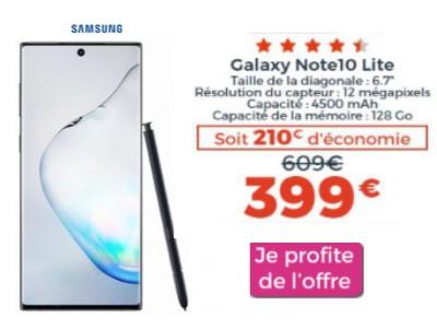 Galaxy Note 10 lite promo Cdiscount