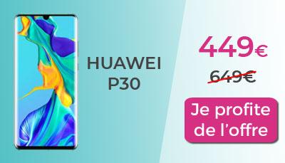 Huawei P30 promo Boulanger