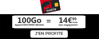 Forfait NRJ Mobile 100Go