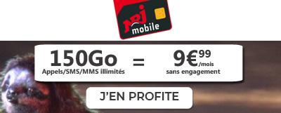 promo NRJ Mobile 150 Go