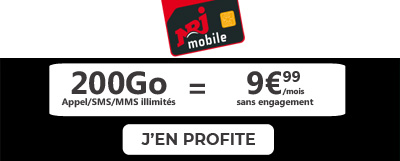 promo forfait mobile NRJ