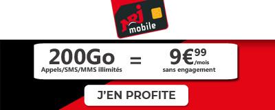 forfait 200 go de NRJ Mobile en promo