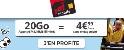 promo NRJ mobile 20go