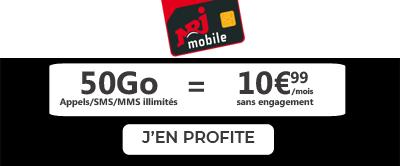 Promo NRJ Mobile 50Go