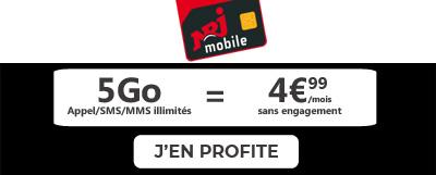 promo nrj mobile forfait 5 Go