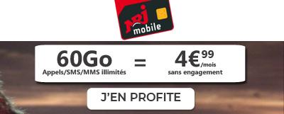forfait mobile 60Go nrj