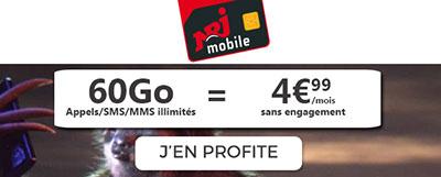 nrj promo 60go à moins de 5 euros
