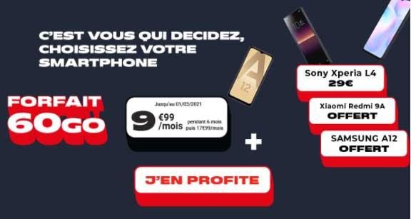 forfait et smartphone chez nrj mobile