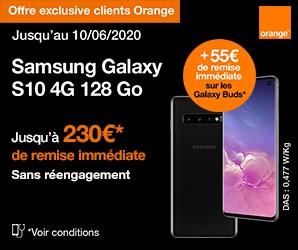Samsung Galaxys10-orange