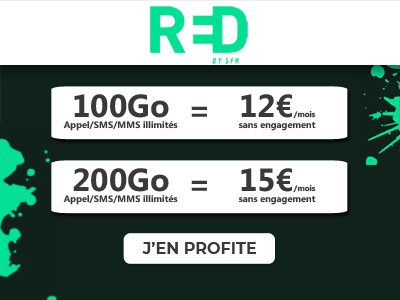 Forfaits BIG RED 100 et 200Go chez RED by SFR
