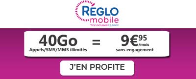 Forfait Reglo mobile 40Go