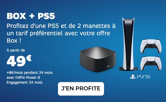 PS5 + Box Internet à prix canon chez SFR