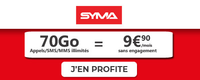 Forfait Syma Mobile 70Go
