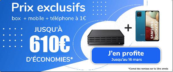 vente privée box + mobile + smartphone 1 euro