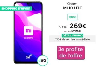 Xiaomi Mi 10 Lite 5G soldé chez RED