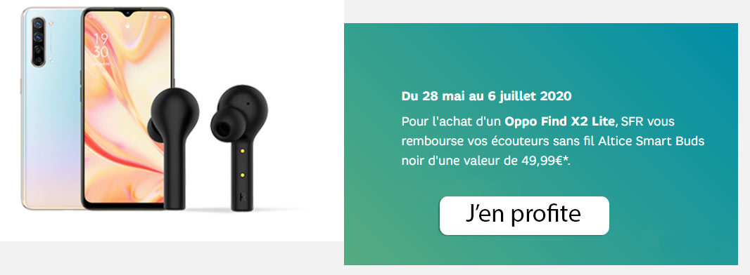 offre red sfr ecouteurs find oppo