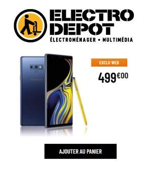 Note 9 electro dépôt