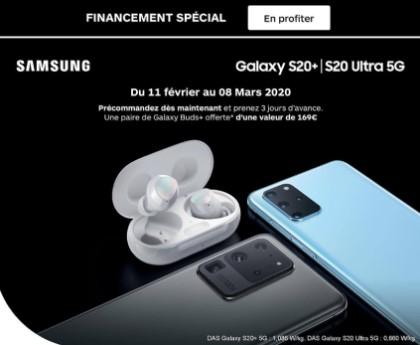 Financement Galaxy S20+ Boulanger