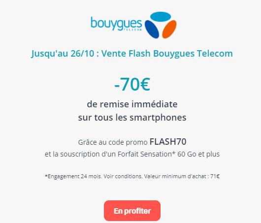70€ de remise BOUYGUES Smartphone
