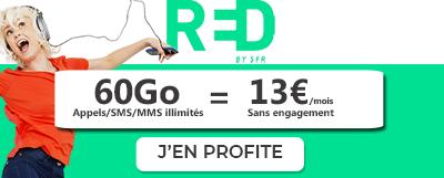 Forfait RED 60 Go 13 euros