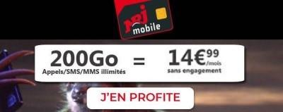 Forfait 200Go NRJ Mobile
