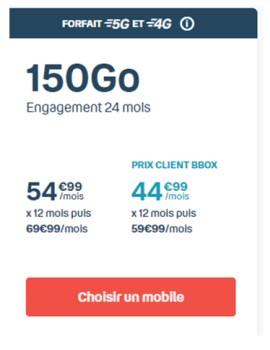 Forfait Sensation 5G de Bouygues Telecom