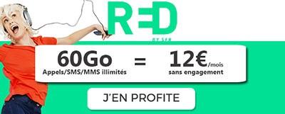 Forfait RED mobile 60Go 12 euros