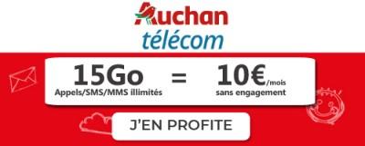 Forfait Auchan Tglecom 15Go