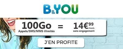b&you 100Go à 14,99 euros