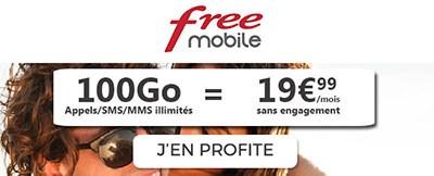 Forfait Free 100Go