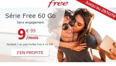 Forfait Free Mobile 60Go