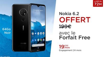 Vente privée Nokia 6.2 offert