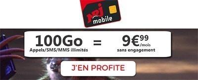 nrj 100 Go pour moins de 10 euros