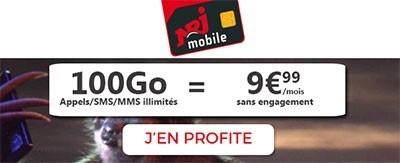 Forfait 100Go NRJ Mobile