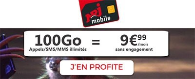 Forfait 100Go à 9.99€